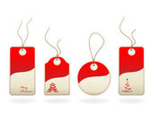 Vector Christmas tags — Stock Vector