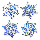 Vector set of snowflakes — Vetor de Stock