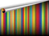 Vector striped sheet — Stock Vector