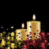 Vector lights background with candles — Stock Vector
