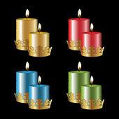 Vector color candles — Stock Vector