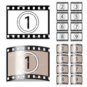Vector scratched film — Stock Vector