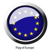 Vector flag of Europe — Stock Vector