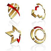 Vector 3D symbols — Stok Vektör