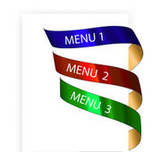 Vector navigation menu — Stock Vector