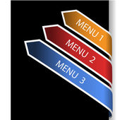 Vector navigation arrows — Stock Vector