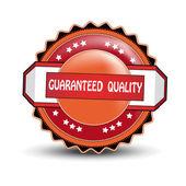 Label de qualité garanti de vecteur — Vecteur