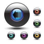 Vector web buttons — Stock Vector