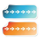 Vector stickers with arrows — Stock Vector