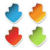 Vector download stickers — Stock Vector