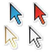 Vector stickers cursors of arrow — Stock Vector