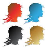 Vector stickers of women — Stock Vector
