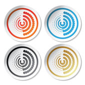 Vector circular stickers — Stock Vector
