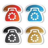 Vector phone stickers — Stock Vector