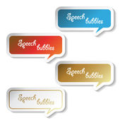 Vector speech bubbles — ストックベクタ