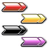 Botones de las flechas vector — Vector de stock