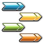 Vector arrows buttons — Stock Vector