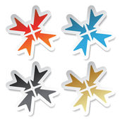 Vector arrow stickers — Stock Vector