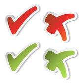 Vector check mark stickers — Vector de stock