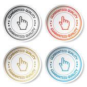 Vector sticker - guaranteed quality — Stock Vector