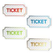 Vector striped tickets — Stock Vector