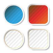 Vector striped stickers — Stock Vector