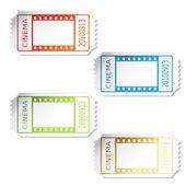 билеты в кино вектор — Cтоковый вектор