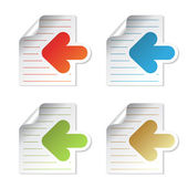 Vector document symbols — Stock Vector