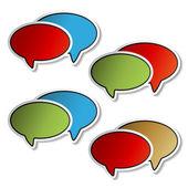 Vector stickers of speech bubbles — Stock Vector