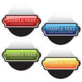 Vector color buttons — Stock Vector