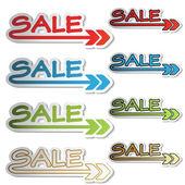 Vector sale stickers — Stock Vector