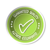 Vector sticker - guaranteed quality — Stock Vector