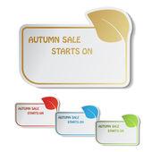 Vector autumn labels — Stock Vector