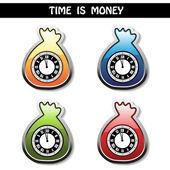 Vector symbol - time is money — Stock Vector
