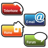 Vector banners - phone, email, home, forum — Stock Vector