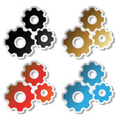 Vector sprocket stickers — Stock Vector