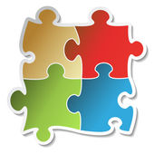 Vector puzzle sticker — Stock Vector