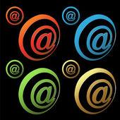 Vector e-mail buttons — Stock Vector