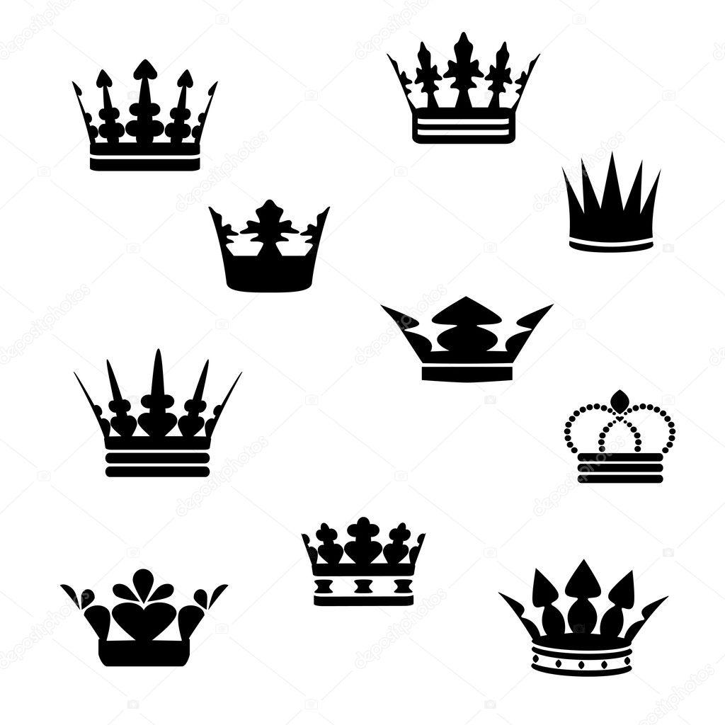 эскиз короны: