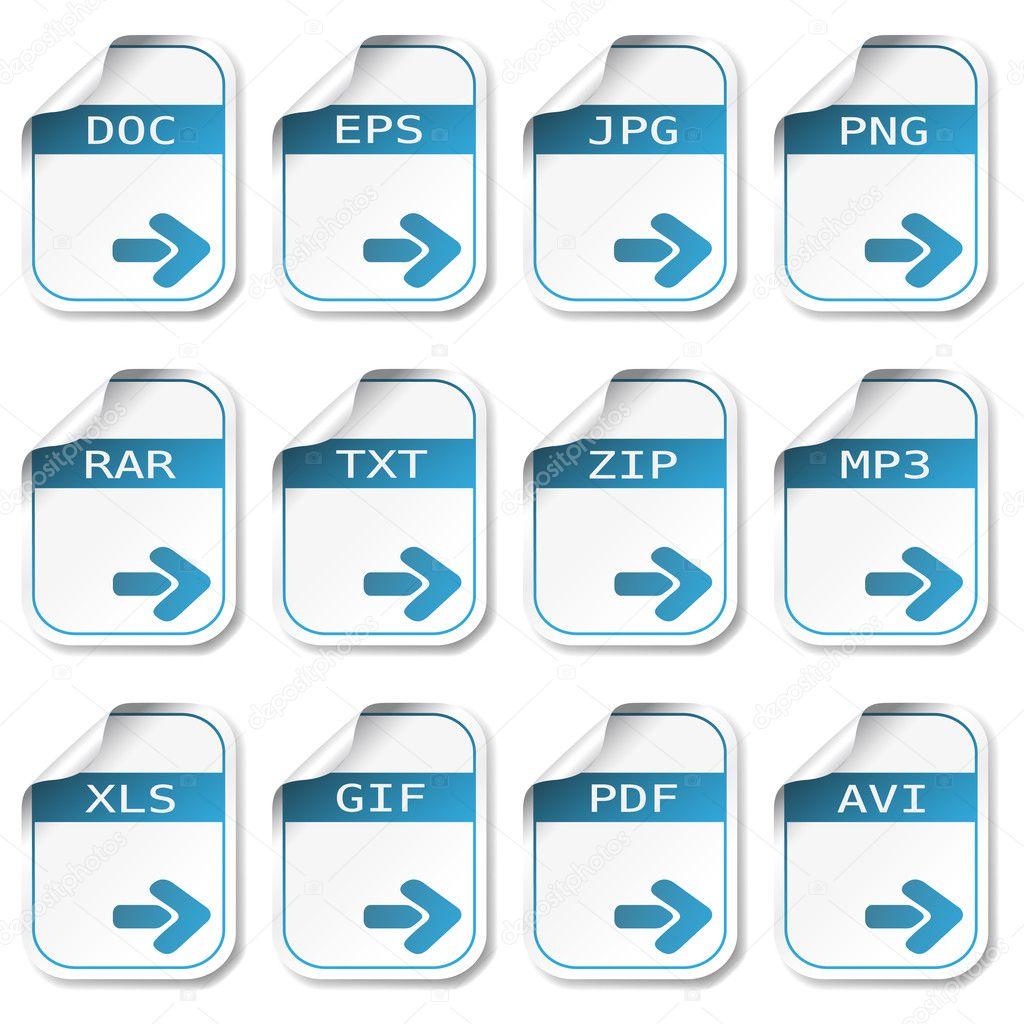 значки для файлов: