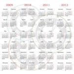 Vector calendar with clock background — Stock Vector