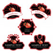 Stock Vector: Vector fruit labels