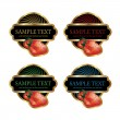 Vector fruit labels — Stock Vector