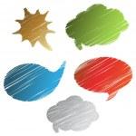 Vector scratch speech bubble — Stock Vector #11625605