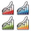 Vector set of graphs — Stock Vector