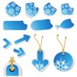 Vector winter stickers and tags — Stock Vector