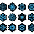 Royalty-Free Stock Imagem Vetorial: Vector snowflakes