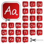 Vector hand drawing alphabet — Stock Vector