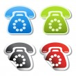 Stock Vector: Vector phone stickers