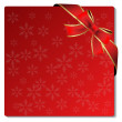 Vector Christmas card with bow — Stock Vector #11625876